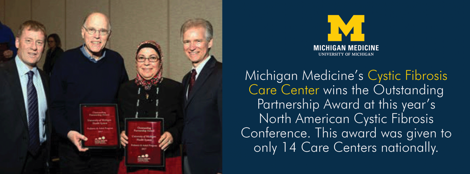 U-M Cystic Fibrosis Care Center wins NACFC Outstanding Partnership Award