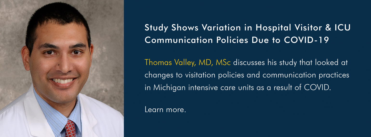 Study Shows Variation in Hospital Visitor & ICU Communication Policies Due to COVID-19