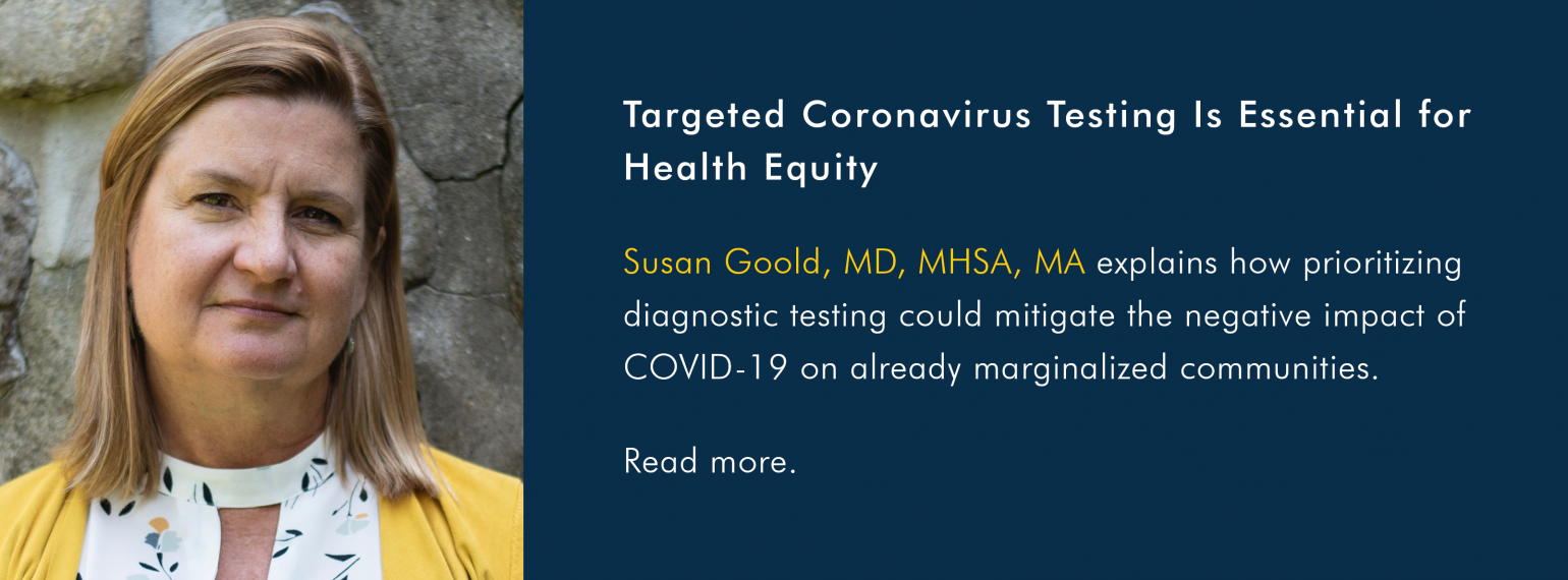 Targeted Coronavirus Testing Is Essential for Health Equity