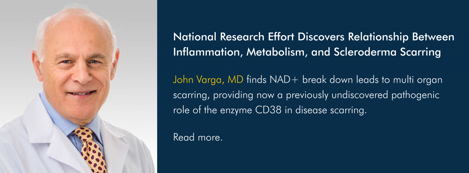 National Research Effort Discovers Relationship Between Inflammation, Metabolism, and Scleroderma Scarring