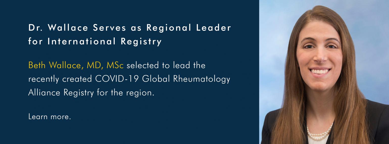 Dr. Wallace Serves as Regional Leader for International Registry