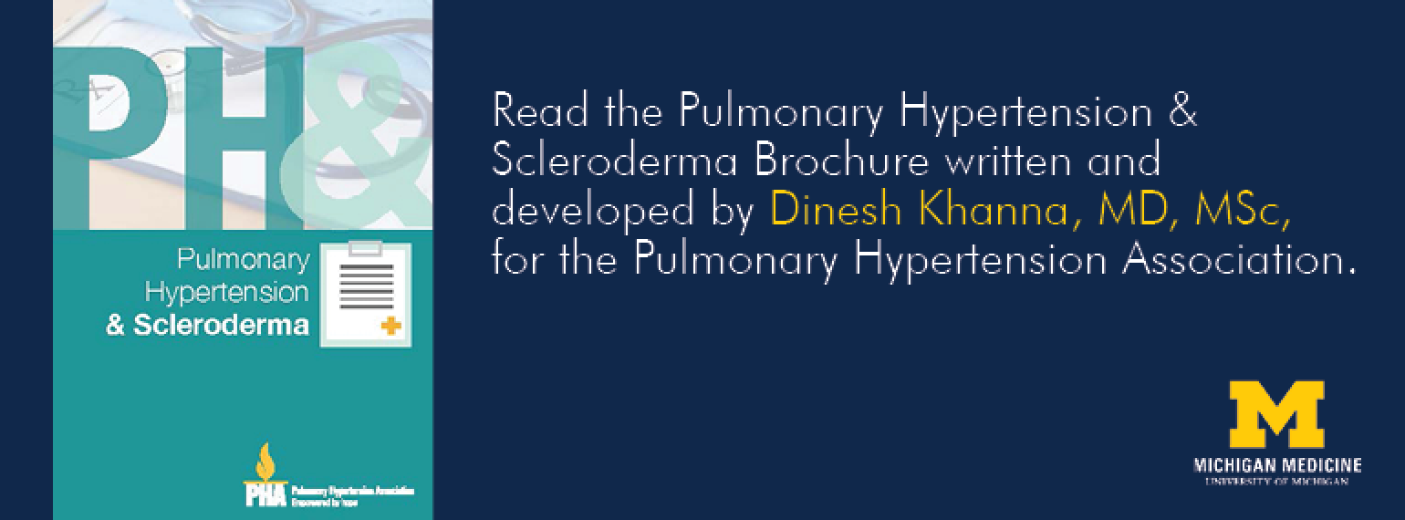 U-M Scleroderma Program, Pulmonary Hypertension & Scleroderma Brochure