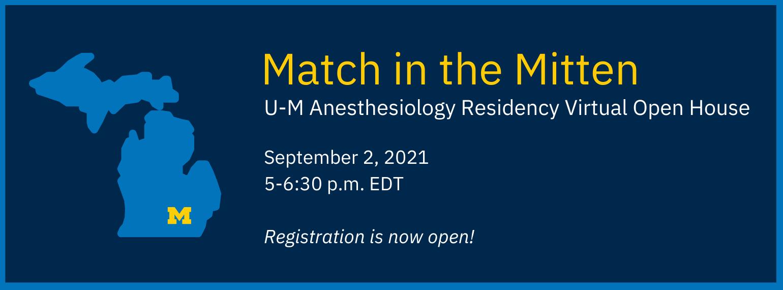 Anesthesiology Residency Open House September 2 - Registration Open