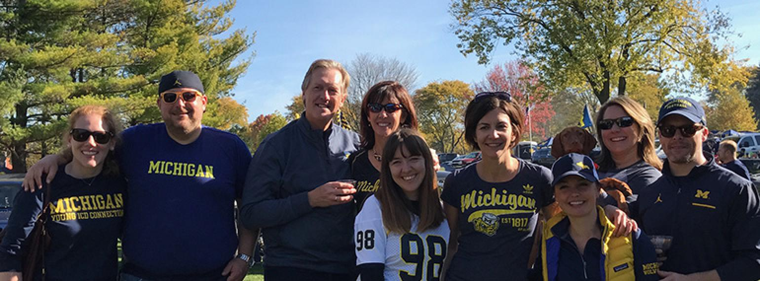 Pediatric Cardiology Fellows at tailgate event
