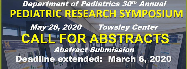 Pediatric Research Symposium 2020