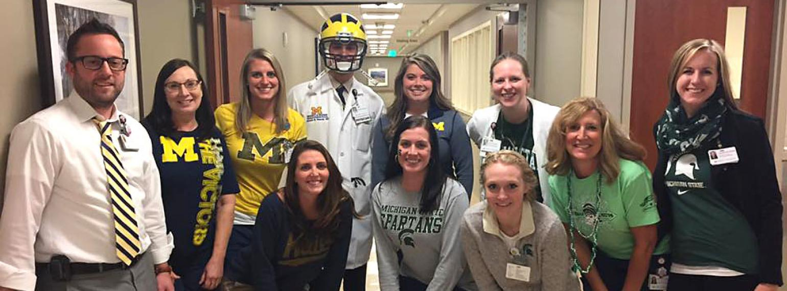 Game day at Lacks Cancer Center: UM vs MSU