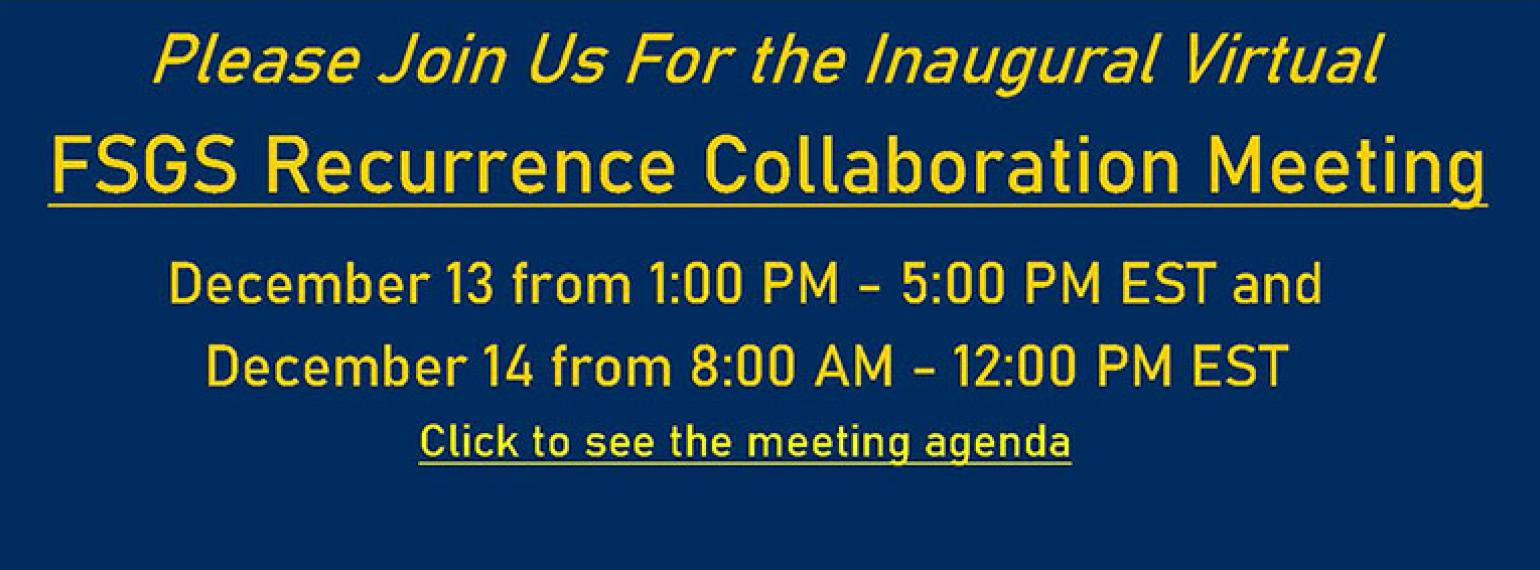 FSGS Recurrence Collaboration Meeting