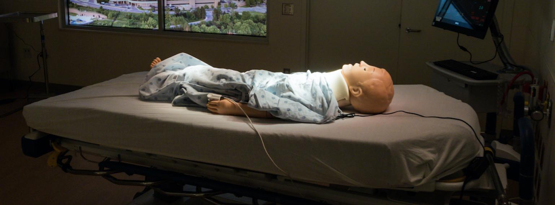 Simulation Room with child manikin 2