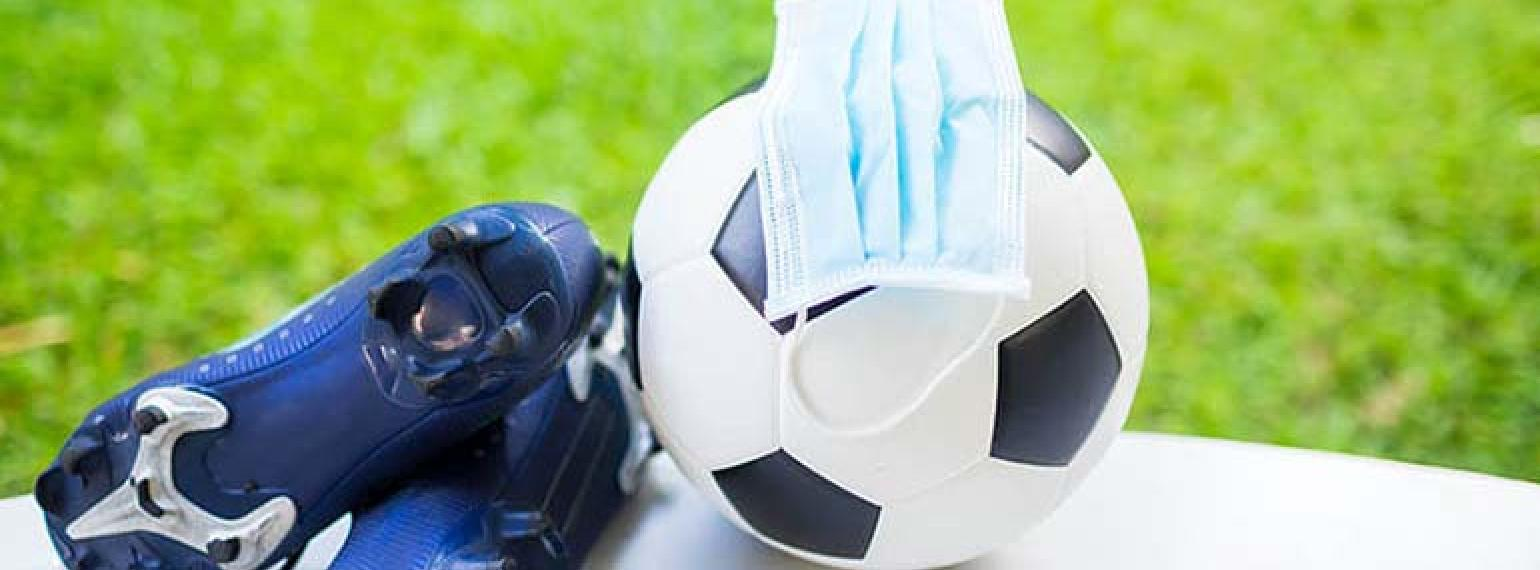 Image of Soccer Ball, Cleats, and mask