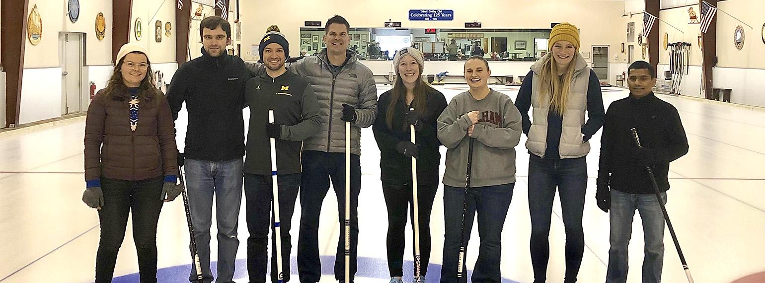 Speers lab outing- Curling lineup