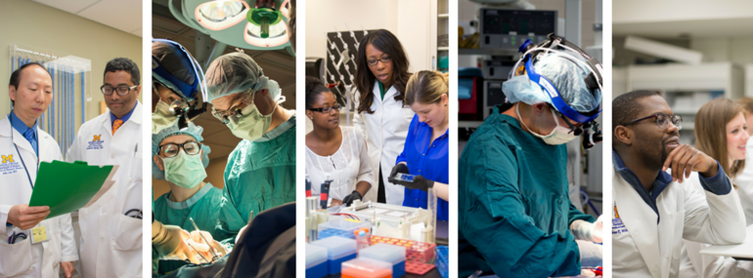 Clinical Care, Education, and Research scenes from the Department of Surgery