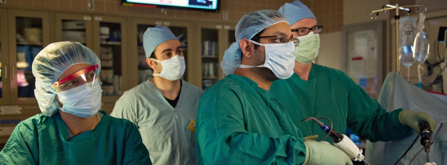 Dr. Englesbe and surgical team in the operating room