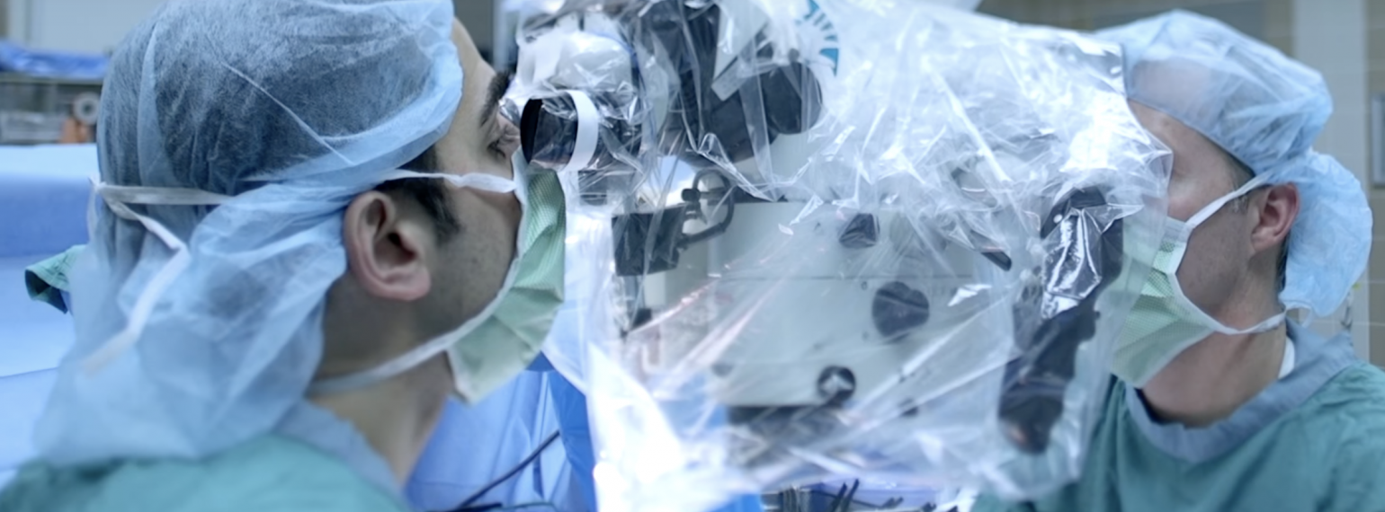 Dr. Ward and team member in the operating room