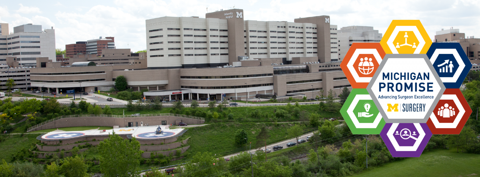 University Hospital with Michigan Promise icon