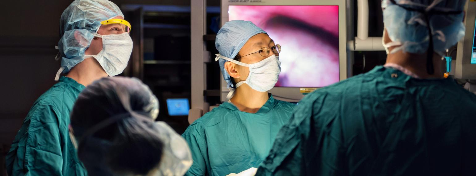 Dr. Lin in the operating room