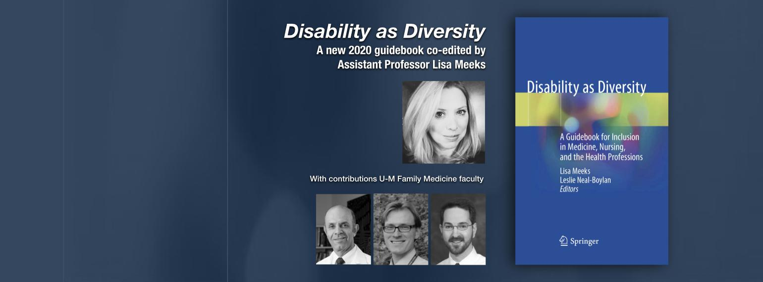 Disability as Diversity A new 2020 guidebook co-edited by Assistant Professor Lisa Meeks