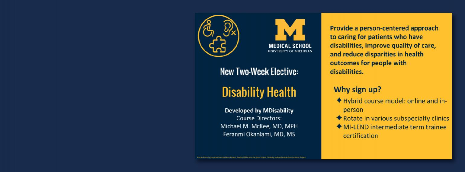 University of Michigan Medical School Disability Health Elective
