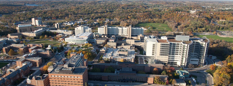 medical campus aerial photo