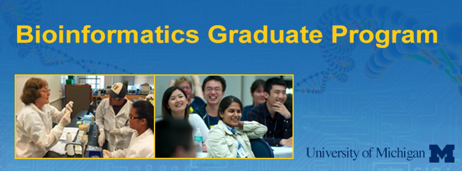University of Michigan Bioinformatics Graduate Program