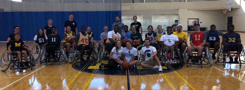 wheelchair basketball group photo