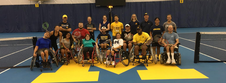 wheelchair tennis group photo