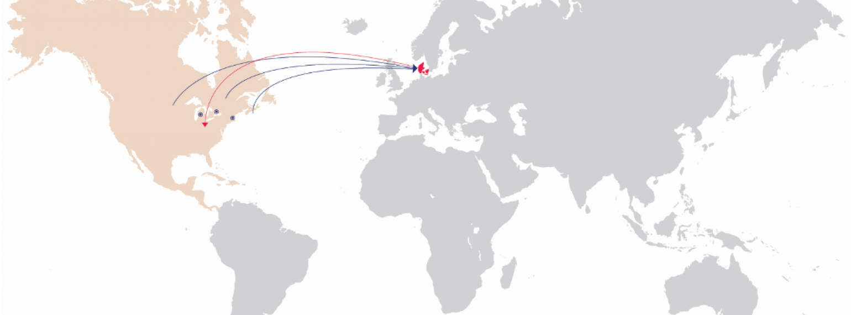 Steno North American Fellowships Map