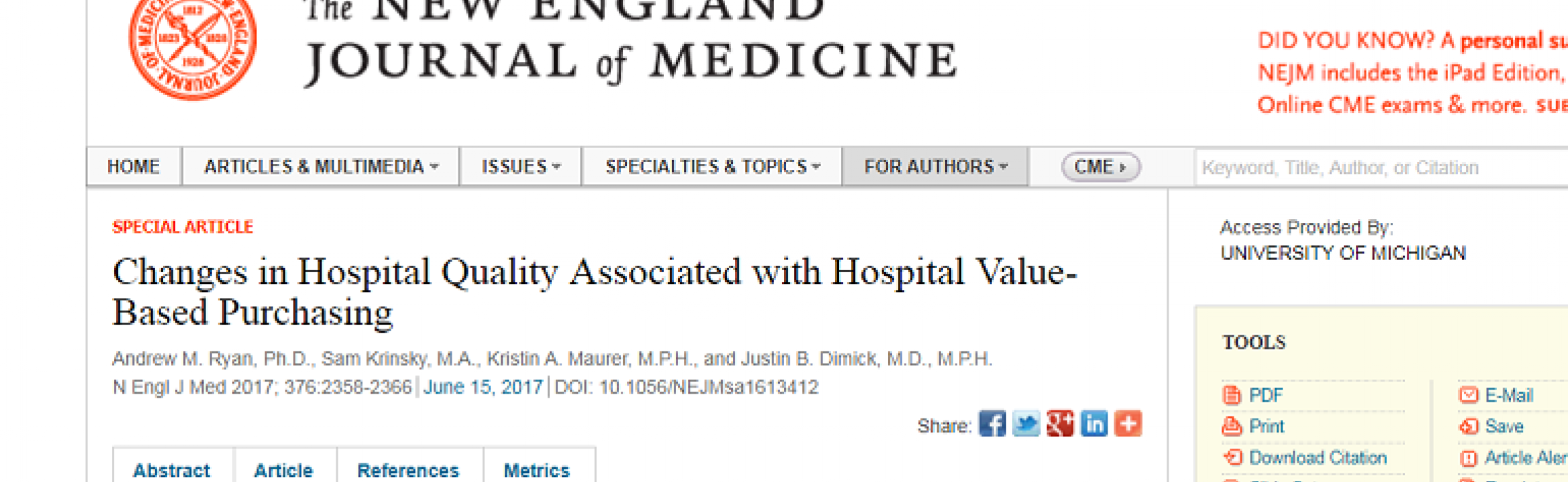 NEJM article screenshot