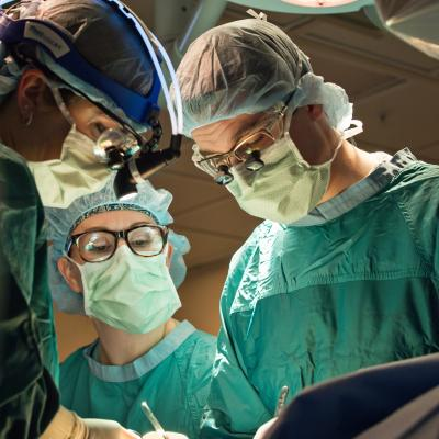 Vascular surgery team in the operating room