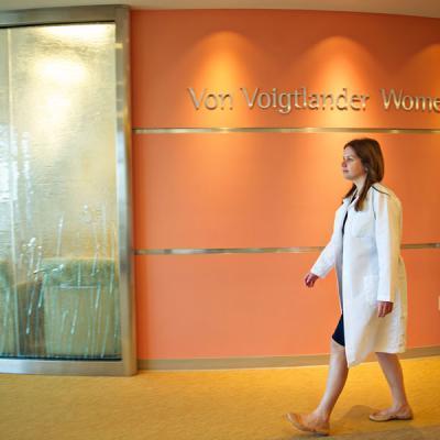 Doctor walking in hopsital