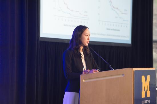 Dr. Ton Wang presenting at Moses Gunn 2019