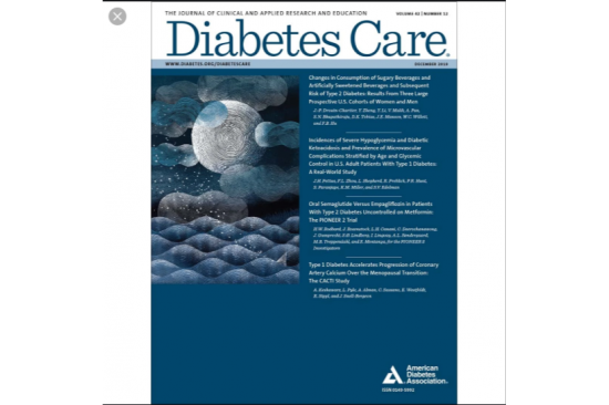 Diabetes Care cover December 2019