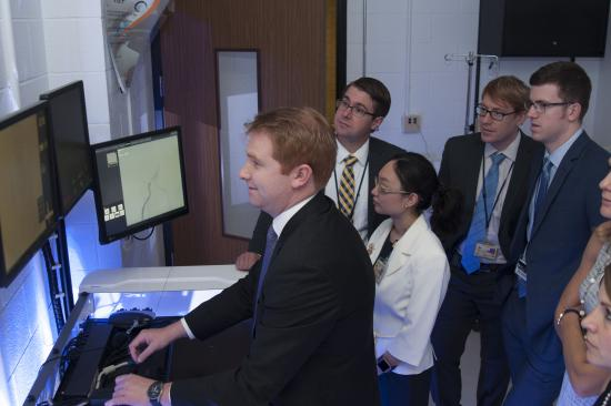 Vascular Surgery trainees in the simulation center