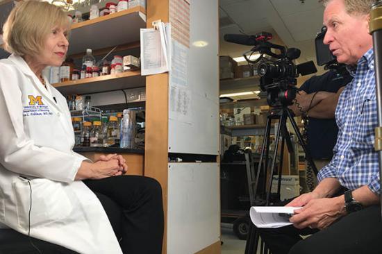 Dr. Feldman with Keith Famie