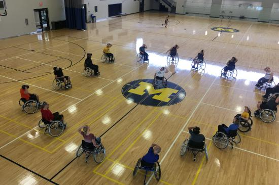 university of michigan wheelchair basketball attendees 2019