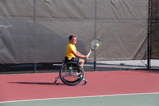 Kelley playing tennis