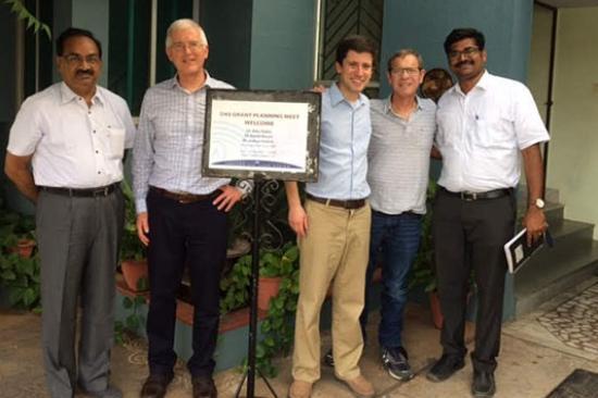 Dr. David Musch and Dr. Joshua Ehrlich at Aravind