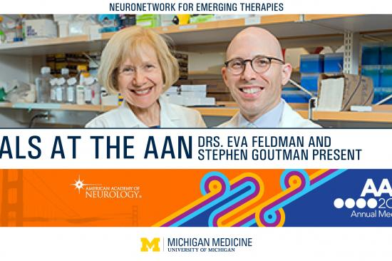 cover photo for the AAN 2021 Annual meeting wrap up by Dr. Eva Feldman and Dr. Stephen Goutman