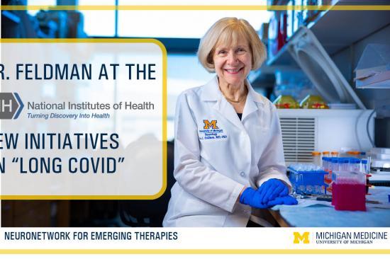 graphic cover for Dr. Eva Feldman's NIH Long Covid Meeting Recap