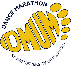 a logo for Dance Marathon at University of Michigan