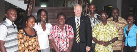 Dr. Johnson in Ghana