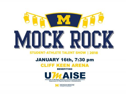 logo for Mock Rock at the University of Michigan