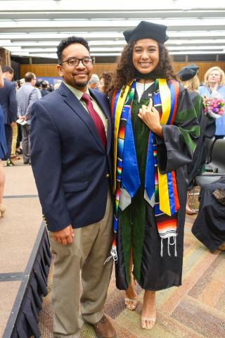 Dr. Valbuena and Dr. Gonzalez at graduation