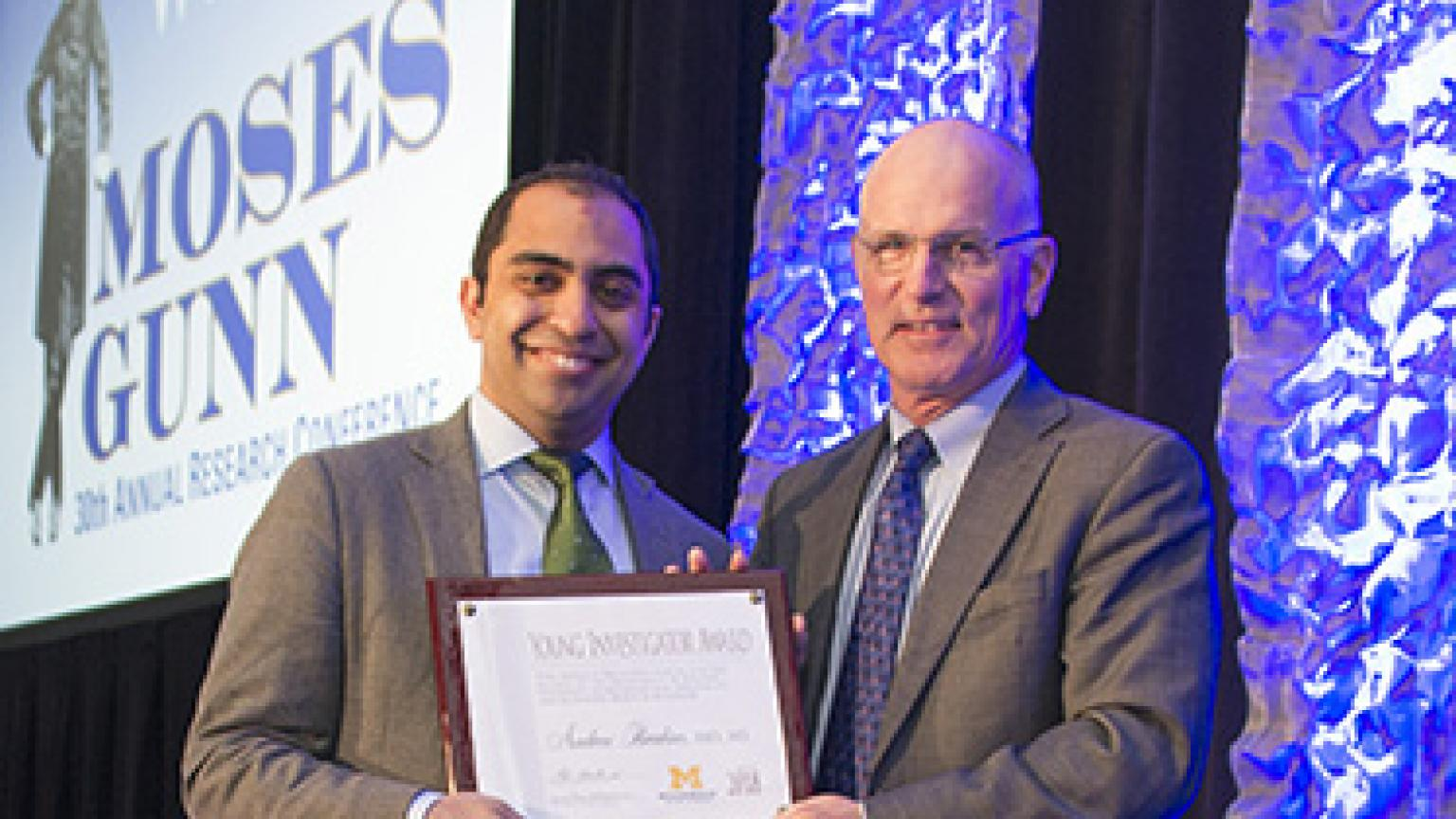 Dr. Mulholland and Andrew Ibrahim, MD, MS