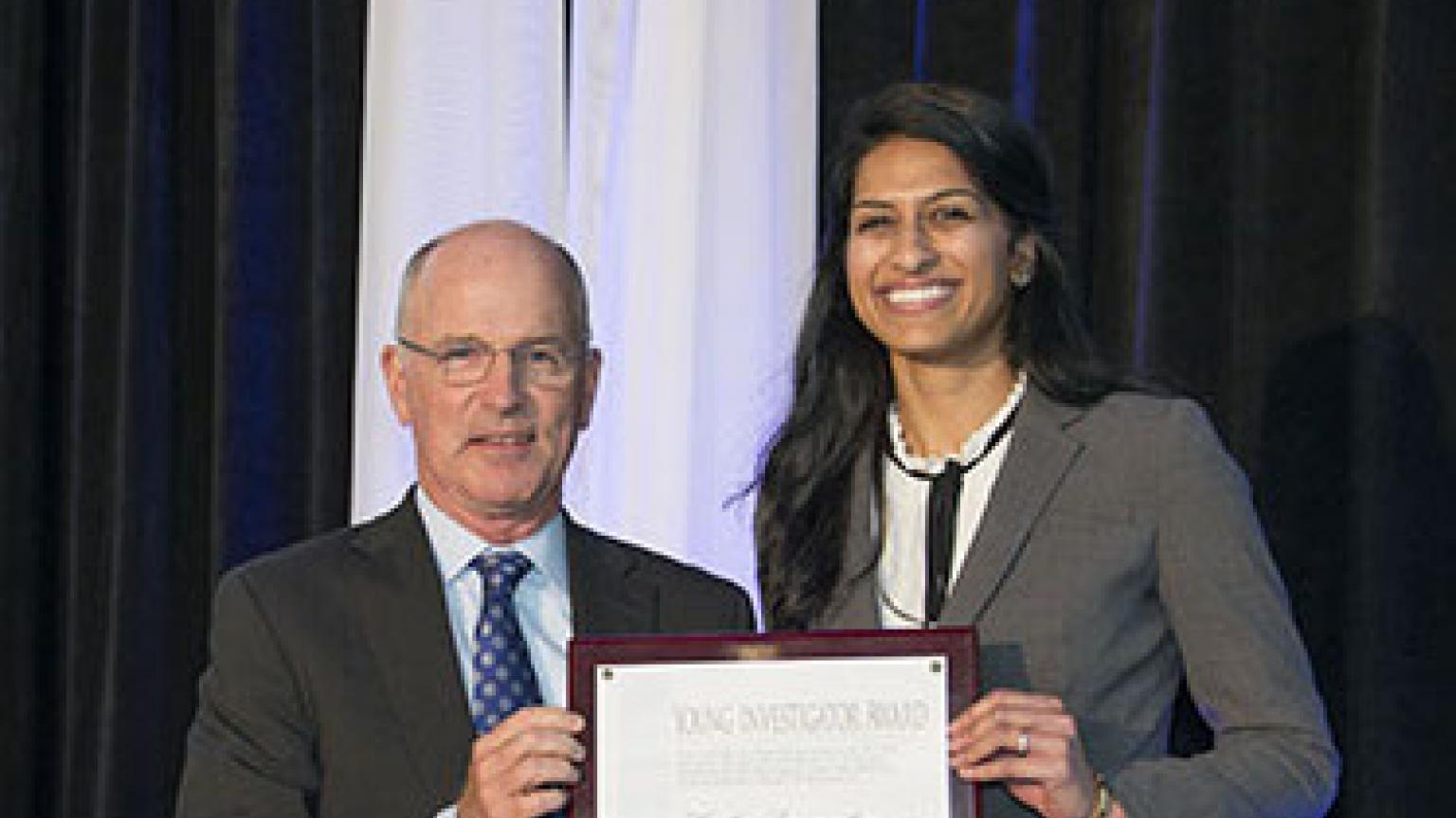 Dr. Mulholland and Kavitha Ranganathan, MD