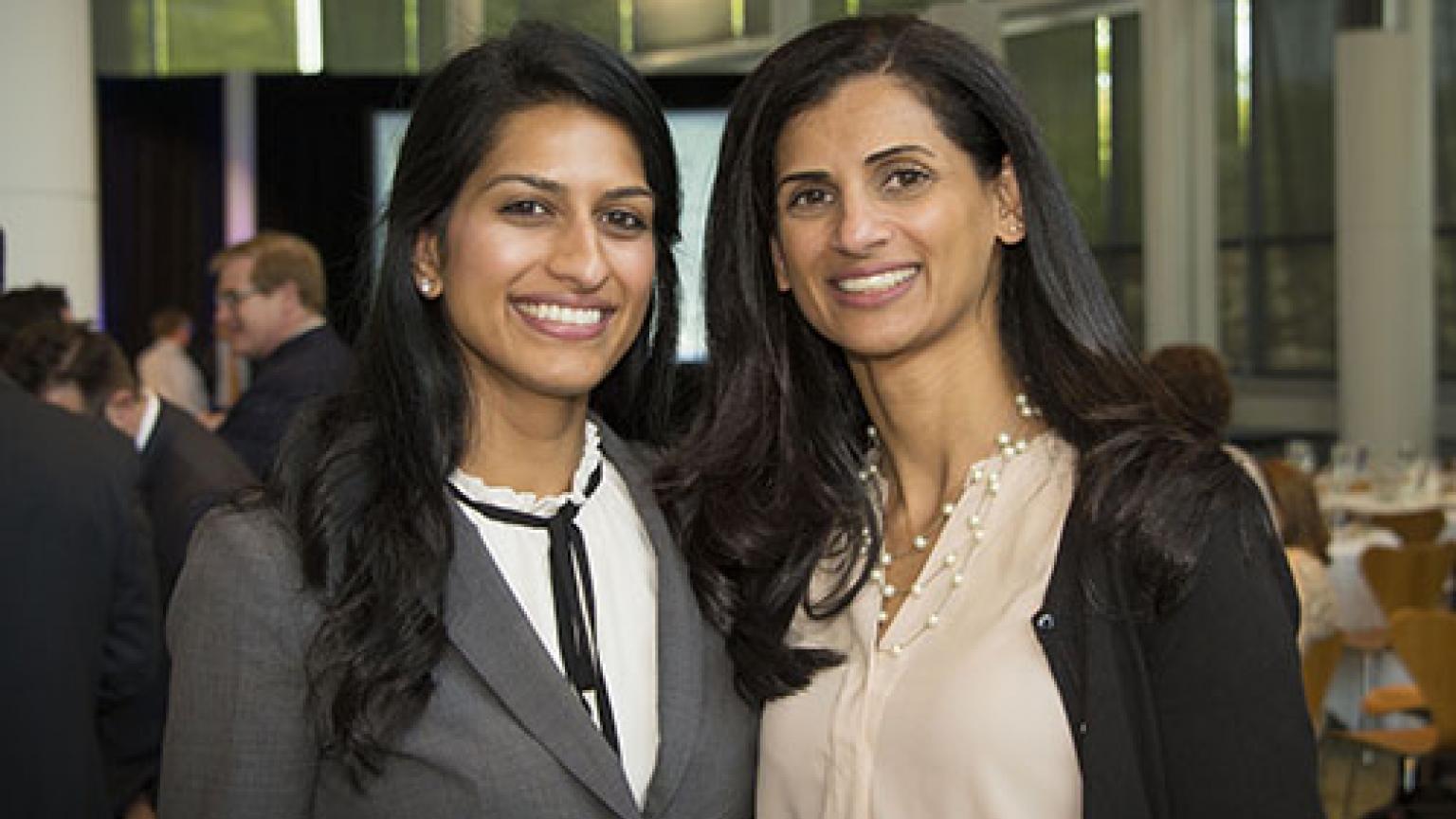 Dr. Sandhu and Kavitha Ranganathan, MD