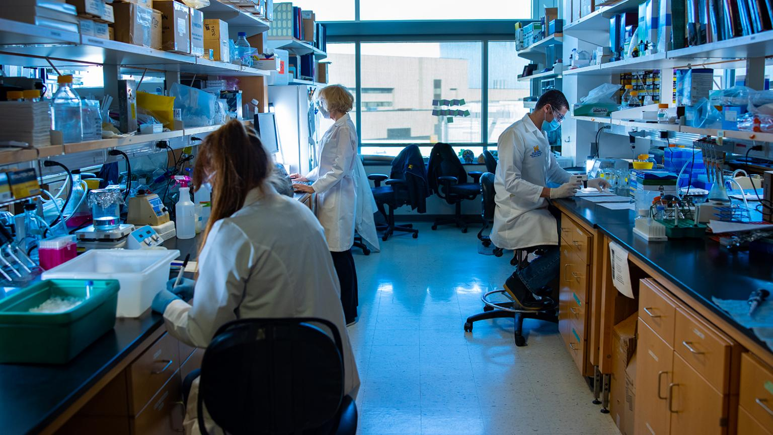 a photo inside the lab of the NeuroNetwork for Emerging Therapies