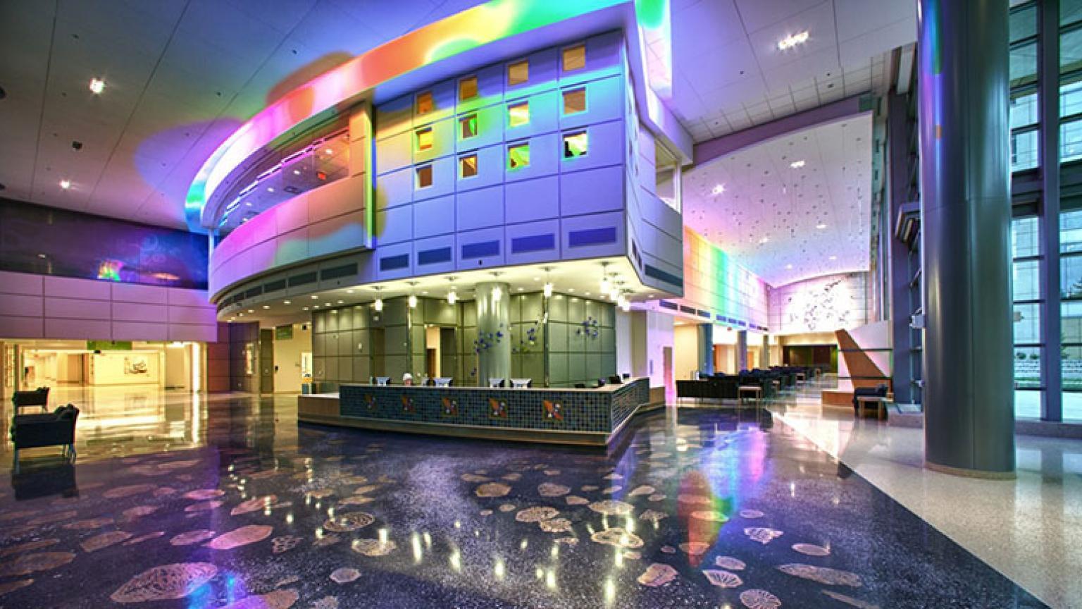 C.S. Mott Children's Hospital lobby entrance