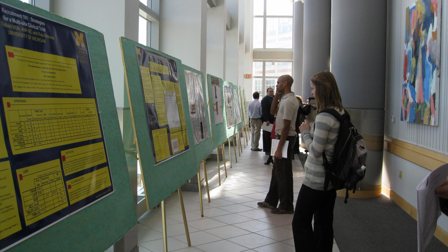 Participants View PFRG Day Poster
