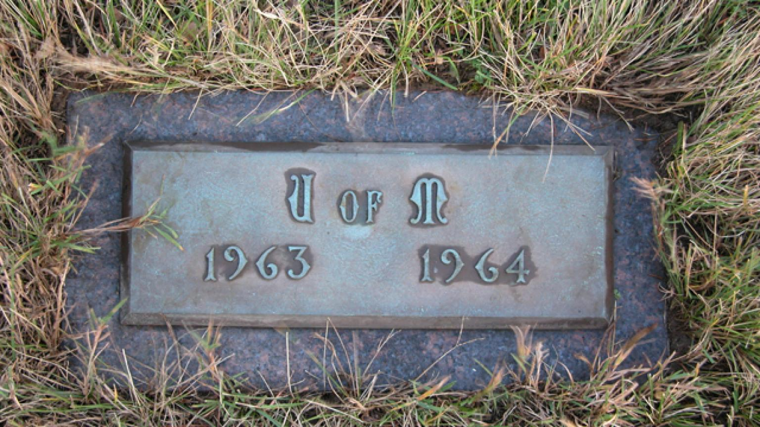 United Memorial Gardens U of M Gravestone 1963-64