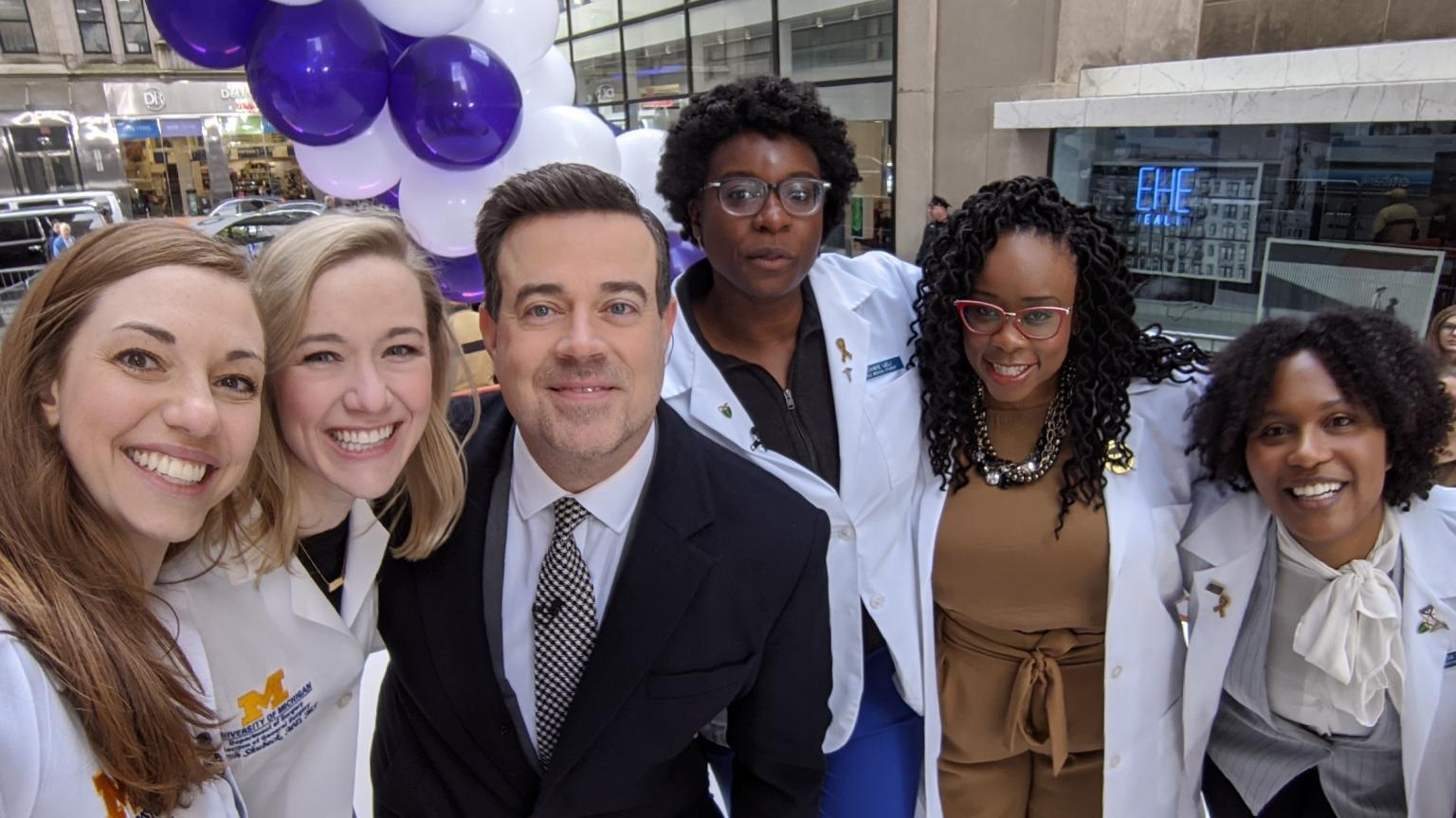 Department of Surgery residents at Good Morning America 2020